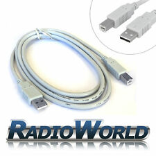 2m High Quality USB A to B Printer Data Long Grey Cable For Brother, HP, Epson