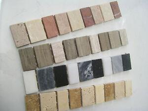 Marble Mosaic Border Tiles 'Fascia Range' - 4 Colour Choices, Various Pack Sizes