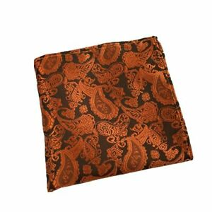 Men's Paisley Floral Pattern Pocket Square Handkerchief Wedding Party Hanky