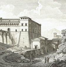Castello Genazzano Roma 1804 Lazio Bourgeois Devilliers