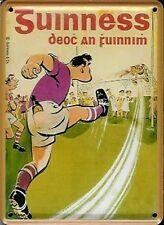 Guinness Gaelic Football miniature metal sign / postcard   (hi)