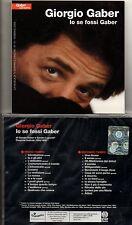 GIORGIO GABER 2 CD IO SE FOSSI GABER  abbinam.editoriale MONDADORI sigillato