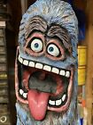 SCREAMING+MONSTER+DUDE+Chainsaw+Carving++WALNUT+Wooden+MONSTER+Statue+ORIGINAL