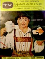 TV Guide 1957 Mickey Rooney Regional TV Magazine St Louis Vintage EX COA