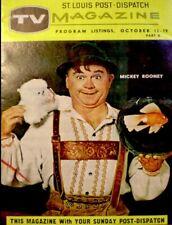 TV Guide 1957 Mickey Rooney Regional TV Magazine St Louis Vintage EX COA