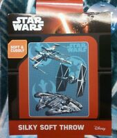 Star Wars  Millennium Falcon Tie Fighter X Wing Force Awakens Disney Soft Throw