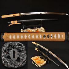 Japanese Samurai Dragon Katana Full Tang Handmade Sword 1060 Carbon Steel Blade