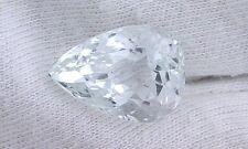 12.40 Carat Pear Natural Light Ice Blue Aquamarine Gemstone Gem Stone EBS4695