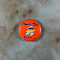 "Vintage Style Auto Ad Sign Fridge Magnet 1"" Minute Man Service Union Gas Station"