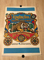"""Vintage Ringling Brothers Barnum Bailey Circus Poster 100th Anniversary 36""""x23.5"""