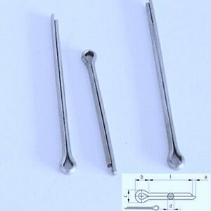 12x Splinte  Edelstahl VA Sicherungssplinte DIN94 Splint Federstecker 304c94dvb