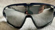 Oakley Jawbreaker Cycling Sunglasses Blue Frame
