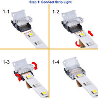 10pcs 5 Pin LED Strip to Wire Connector for 12mm RGBW Functional IP65 5050 Newly