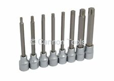 "8pc 1/2"" unidad Torx Estrella Extra Larga Socket Bit Set"