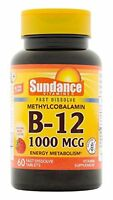 3 Pack Vitamin B12 1000mcg Methylcobalamin Natural Berry Flavor 60 Tablets Each
