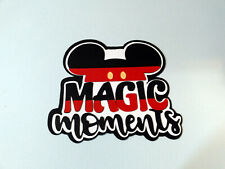 Magic Moments Disney title paper piecing Premade Scrapbook Pages