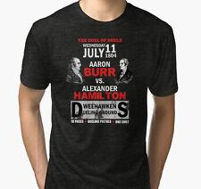 Hamilton Vs Burr Men Black Tshirt Size S-2Xl
