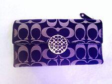 Authetic Signature Alexandra Slim Leather envelope Wallet 46148