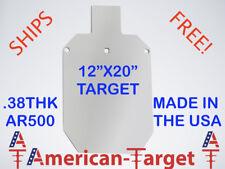 """American-Target AR500 3/8 steel shooting target 11 3/4"""" x 20"""" silhouette target"""