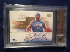 2003-04 Carmelo Anthony Ultimate Gold Rookie RC #'d 12/15 BGS 9.5 w/10 Auto
