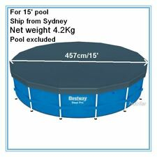 POOL COVER FOR INTEX AQUA DRICLAD 15FEET 457cm STEEL FRAME PVC POOL COVER