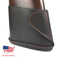 Tourbon Slip-on Buttstock Recoil Pad Full Leather Rifle Shotgun Stock Holder US