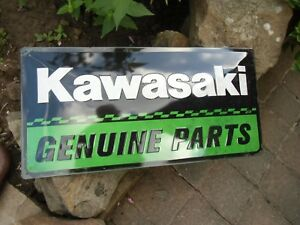KAWASAKI Genuine Parts - Official Large Wall Sign - over 19.75 inches