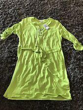 New Lime Green Michael Kors Dress Size 3x Silver Chain Tie 3/4 Sleeve Belt