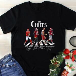 Kansas City Chiefs Abbey Road T Shirt Kansas City Chiefs Signatures Tee Gift Fan
