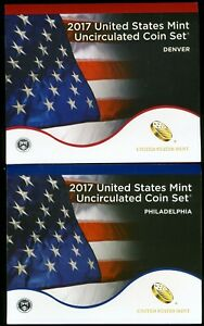 2017 P & D United States Uncirculated Mint Coin Set  JE487