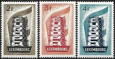 Luxembourg stamps #318-320 1956 Rebuilding Europe Europa Mint H Cv $65.50
