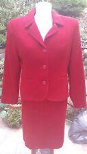ensemble jupe et veste rouge foncé Camaïeu