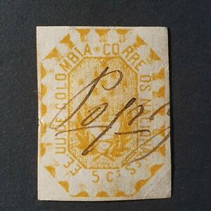 Colombia 1866 Arms Imperf Stamp SG44 Used
