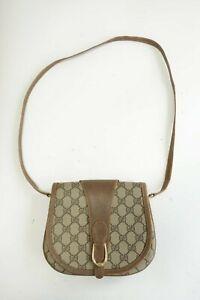 Authentic Vintage Gucci Canvas PVC Shoulder bag Crossbody Pouch #9252