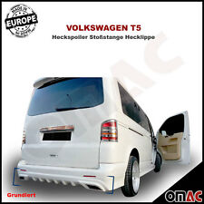 VW T5 2003-2015 Heckspoiler Stoßstange Hecklippe Spoiler Hinten schutz Grundiert