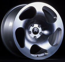 "18"" Wheels JNC036 18x8.5 / 18x9.5 5x112 Silver Machine CC10 Golf Jetta GTI A4 A6"