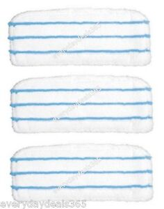 Black And Decker FSMH1621 Steam Mop Deluxe & Steambuster Mop Pads Pack of 3