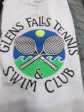 Glens Falls (New York) Tennis & Swim Club T-shirt w/3-D Ball SMALL-PETIT (34-36)