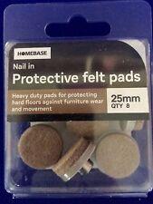 Almohadillas de Fieltro de protección Nuevo en uñas 5 X 25mm Resistente De Protección De Suelos Duros Beige