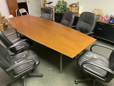 8 Long Wood Conference Table Dim 1165 X 45125 X 28 Amp 6 Office Chairs