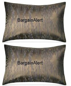 Donna Karan Exhale Taupe 2 x King Pillow Shams Brand NEW $380 Retail