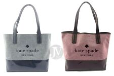 Nuevo Para mujeres KATE SPADE (WKRU 5820) compartimento de ceniza Street Triple Bolsa De Lona
