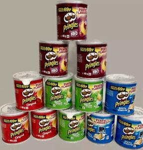Pringles Pop & Go Travel Box 12 x Multi Flavour Pots, Sour Cream & Onion, Salt &