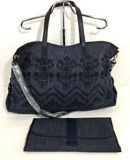 Pottery Barn Kids Navy Embroidered Diaper Bag monogram removed