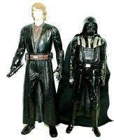 "2 STAR WARS Hasbro SA 2013 LFL 11.5"" Darth Vader & 2012 13"" Anakin Skywalker"