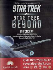STAR TREK JUNE 2nd 2018 ADVERT - LONDON ROYAL ALBERT HALL CONCERT WITH ORCHESTRA