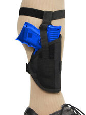 Barsony Gun Concealment Ankle Holster for Springfield Compact 9mm 40 45