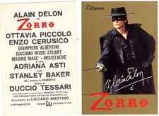 CARTOLINA-ZORRO-ALAIN DELON-ORIGINALE DELL'EPOCA-NUOVA