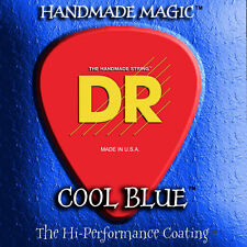 DR CBB6-30 Cool Blue Coated BASS Guitar Strings 6-String set gagues 30-125