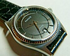 PARNIS :33mm:All stainless:Swiss qtz:Sapphire crystal:Croco leather:50m:Gorgeous
